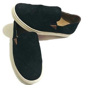 OLUKAI Pehuea Leather Black Suede Shoes Sz 6